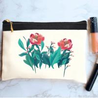 خرید کیف لوازم آرایش طرح گل