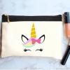 خرید کیف لوازم آرایش طرح یونی کورن
