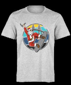 خرید تی شرت خاکستری طرح بابانوئل