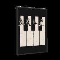 خرید تابلو بوم طرح کلاویه پیانو