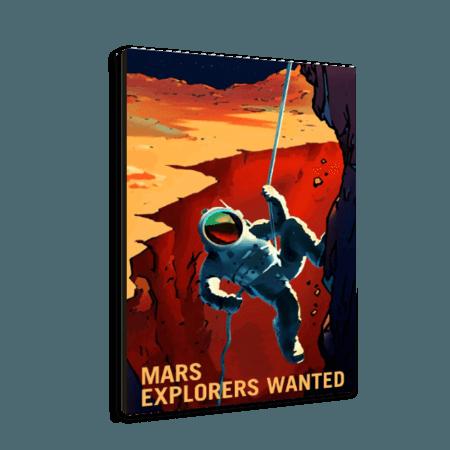 خرید تابلو بوم طرح فضا نوردی در مریخ 1