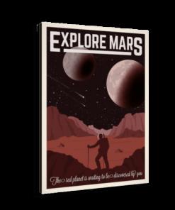 خرید تابلو بوم طرح فضا نوردی در مریخ 2