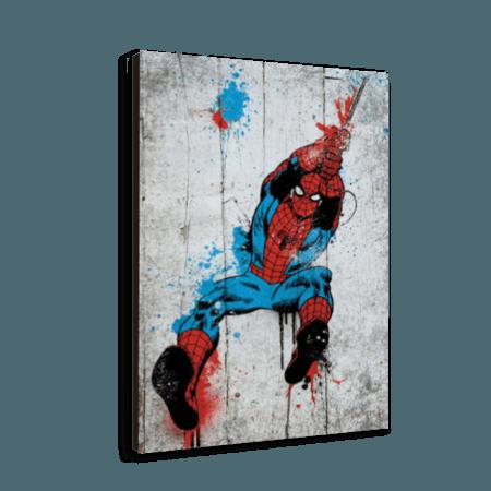 خرید تابلو بوم طرح مرد عنکبوتی