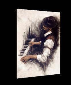 خرید تابلو بوم طرح نوازنده پیانو 1