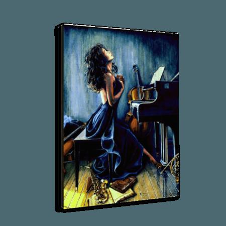 خرید تابلو بوم طرح نوازنده پیانو 2