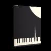 خرید تابلو بوم طرح پیانو