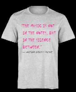 خرید تی شرت خاکستری طرح جملات کوتاه ولفگانگ آمادئوس موتسارت