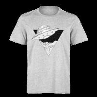 خرید تی شرت خاکستری طرح سفینه فضایی 2