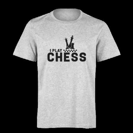 خرید تی شرت خاکستری طرح بازی شطرنج