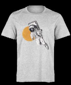 خرید تی شرت خاکستری طرح فضا نورد 1