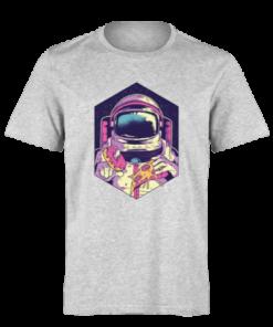 خرید تی شرت خاکستری طرح فضا نورد 3