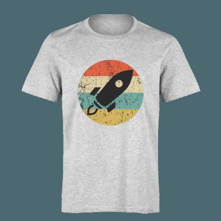 خرید تی شرت خاکستری طرح فضا پیما