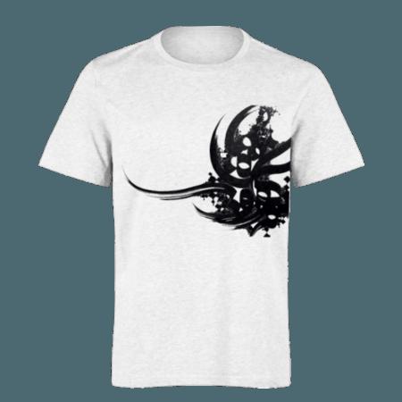 خرید تی شرت سفید طرح سیاه مشق