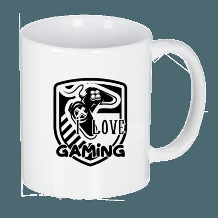خرید لیوان سرامیکی ماگ طرح آی لاو گیمینگ