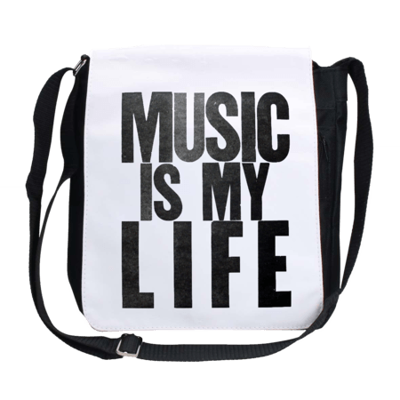 خرید کیف رودوشی اسپرت طرح میوزیک ایز مای لایف