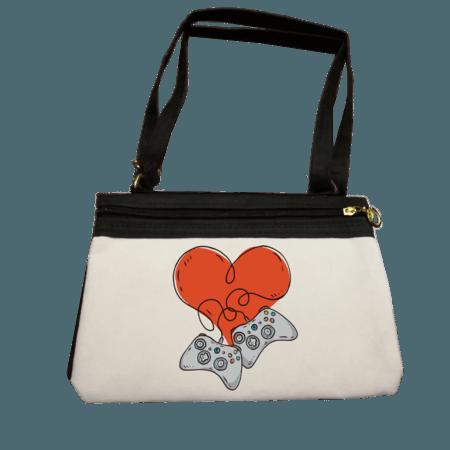خرید کیف رودوشی زنانه طرح گیم لاورز