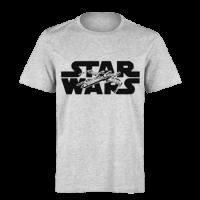 خرید تی شرت خاکستری طرح استار وارز