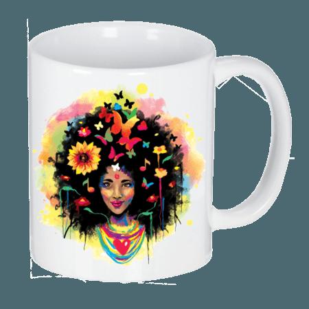 خرید لیوان سرامیکی ماگ طرح دختر هندی