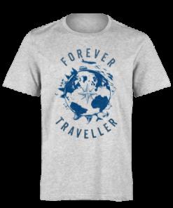 خرید تی شرت خاکستری طرح مسافر برای همیشه