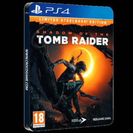 خرید بازی Shadow Of The Tomb Raider Limited Steelbook Edition برای PS4