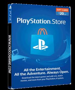 خرید گیفت کارت 20 دلاری Playstation آمریکا - فیزیکی
