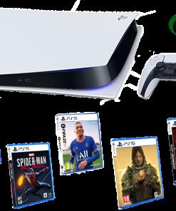 خرید کنسول پلی استیشن ۵دیجیتال PS5 به همراه نصب بازی